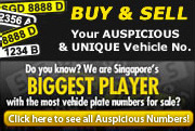 The Largest Car No. Plate market in SG